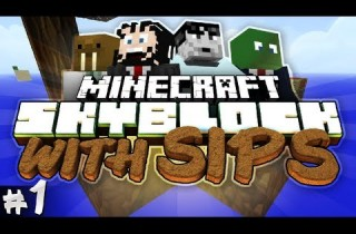 Minecraft: Skyblock with Yogscast Sips #1